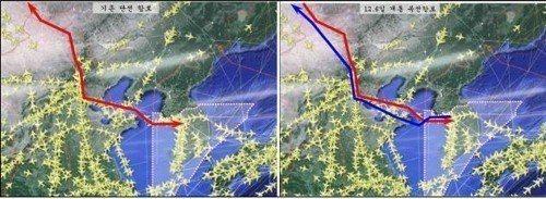 「韓中航路」由「雙向單線」改為「單向雙線」。 圖/南韓國土交通部提供