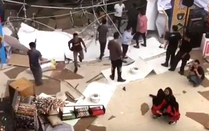 馬來西亞砂勞越州一座購物中心今(4日)發生威力強大的爆炸,造成3死24傷。 圖/...