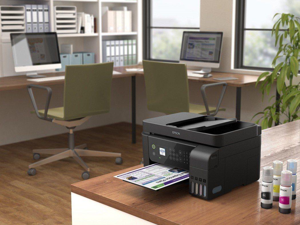 L5190單瓶黑色墨水可印4,500張文件,彩色墨水可印高達7,500張文件,黑...