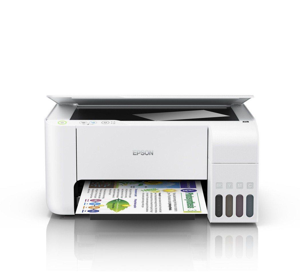 白色款高速三合一連續供墨複合機L3116,擁有列印/影印/掃描功能,1瓶黑墨大印...