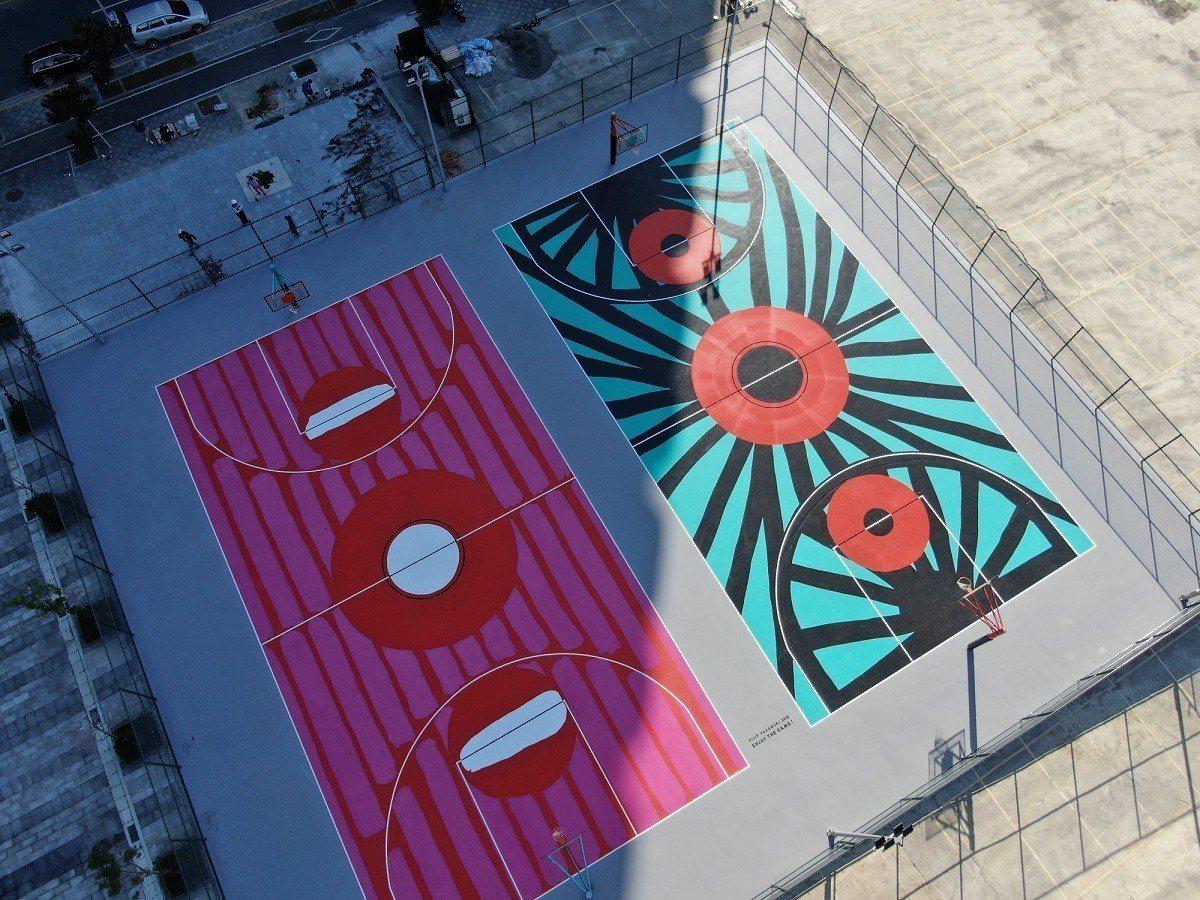 全亞洲首座的國際藝術籃球場,在淡海新市鎮啟用了,這座球場由宏泰人壽以造價800萬...