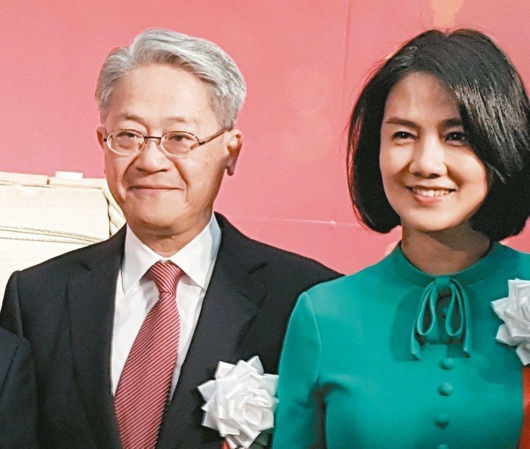 彭雪芬與夫婿吳東亮時常在台新活動上連袂現身,依然很有明星丰采。圖/報系資料照片