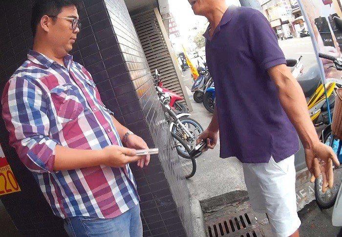 男子被台中警方查獲毒品。記者游振昇/翻攝
