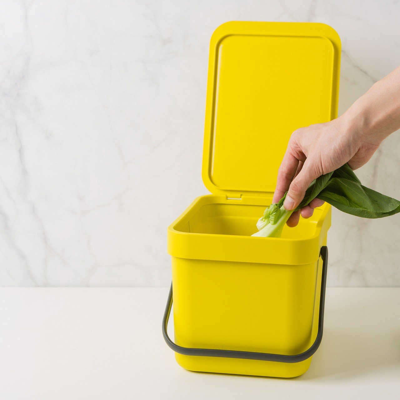 Brabanti多功能餐廚置物桶6L黃色:市價1200元,扣800福利點+450...