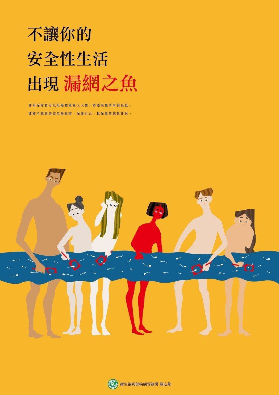 漫畫形式構圖,畫面輕鬆有趣的「不要讓你的性生活出現漏網之魚」,贏得「全國公私立高...
