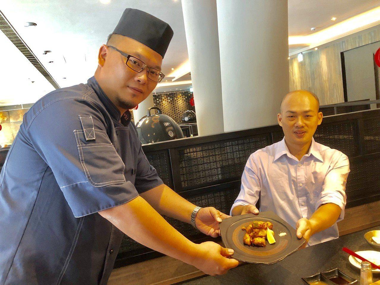 台中餐廳吹韓風,花鮨餐廳開幕首二日推出光頭來店打卡就送「狂野炸雞」。