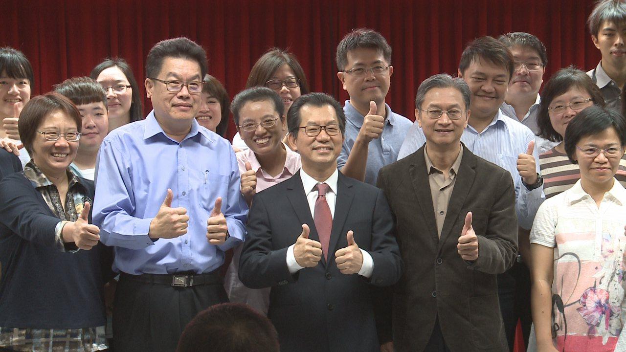 李應元今天卸下環保署長,環保署同仁舉行歡送會。攝影/記者顏凱勗