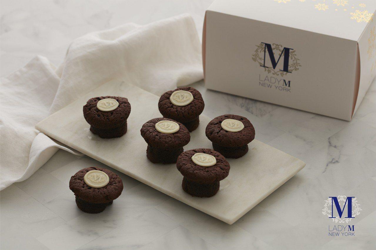 100%法芙娜巧克力私房小點心只送不賣。圖/Lady M提供