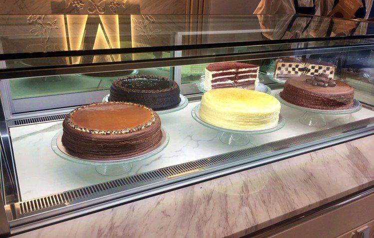 現場提供外帶切片蛋糕為主。圖/Lady M提供
