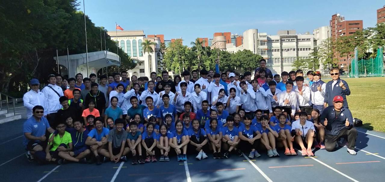 南韓田徑協會青少部連續第3年來台冬訓,今年共計18位選手、3位教練與1位醫護人員...
