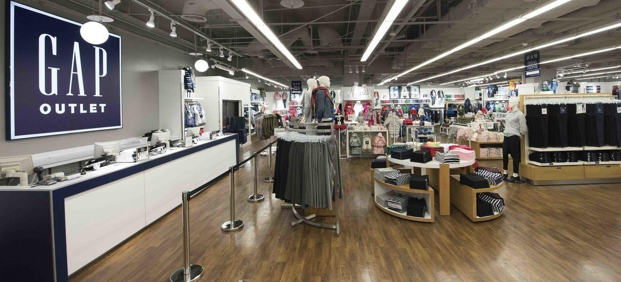 美式休閒品牌GAP進駐林口奧特萊斯購物城,成立全台唯一的品牌過季暢貨據點。圖/G...