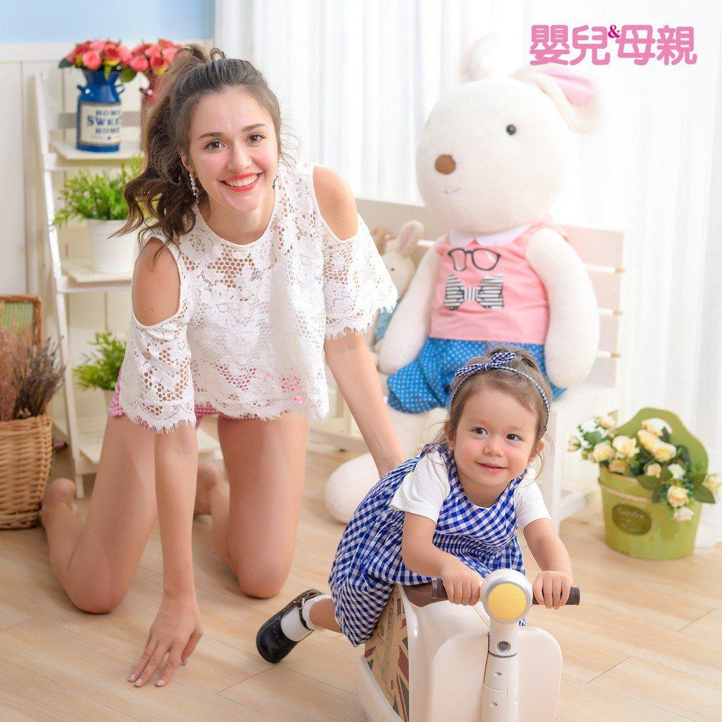 瑞莎爆料2歲的女兒Nika已很有個性。圖/嬰兒與母親提供