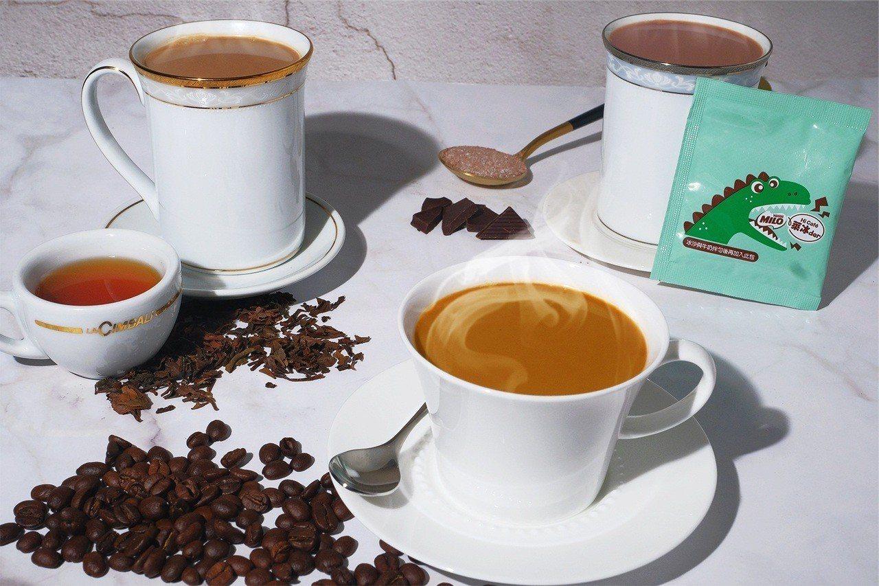 萊爾富醇厚奶茶系列,共有尼爾吉嶺醇厚奶茶、鴛鴦厚奶茶、美祿奶茶3種口味。圖/萊爾...