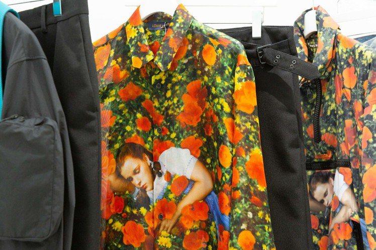 Virgil Abloh運用《綠野仙蹤》打造的透紗襯衫,具有可看性。圖/LV提供