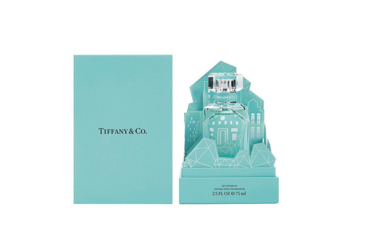 Tiffany & Co.同名淡香精鑽形紙雕盒裝限定版75ml,售價4,800元...