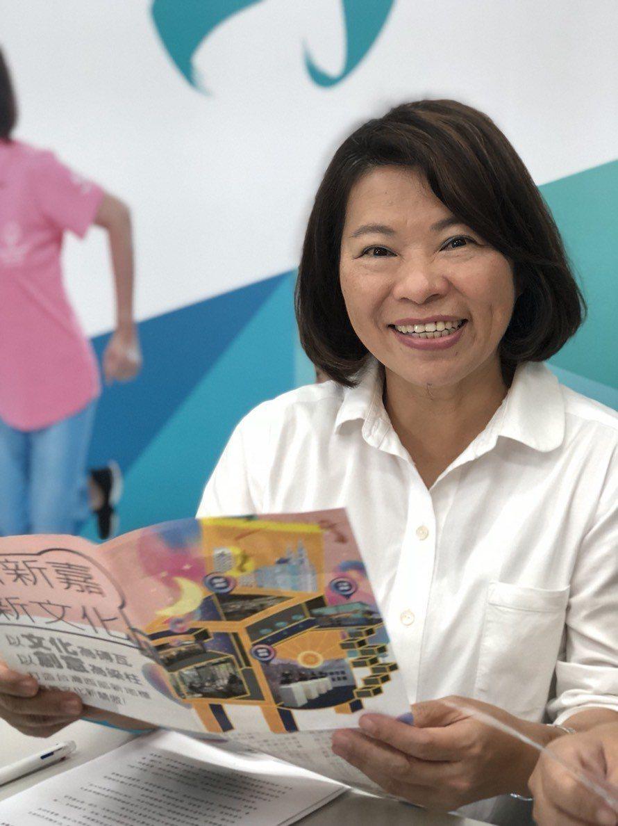 「勇媽」黃敏惠成功為藍軍光復嘉義市版圖,拚經濟是她的競選主軸,她說,近期有不少企...