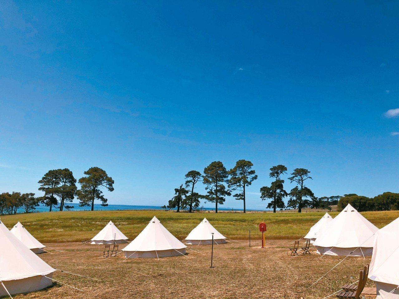 Terindah Estate擁有驚人美麗的私人海灘與奢華露營地。 記者錢欽青/...