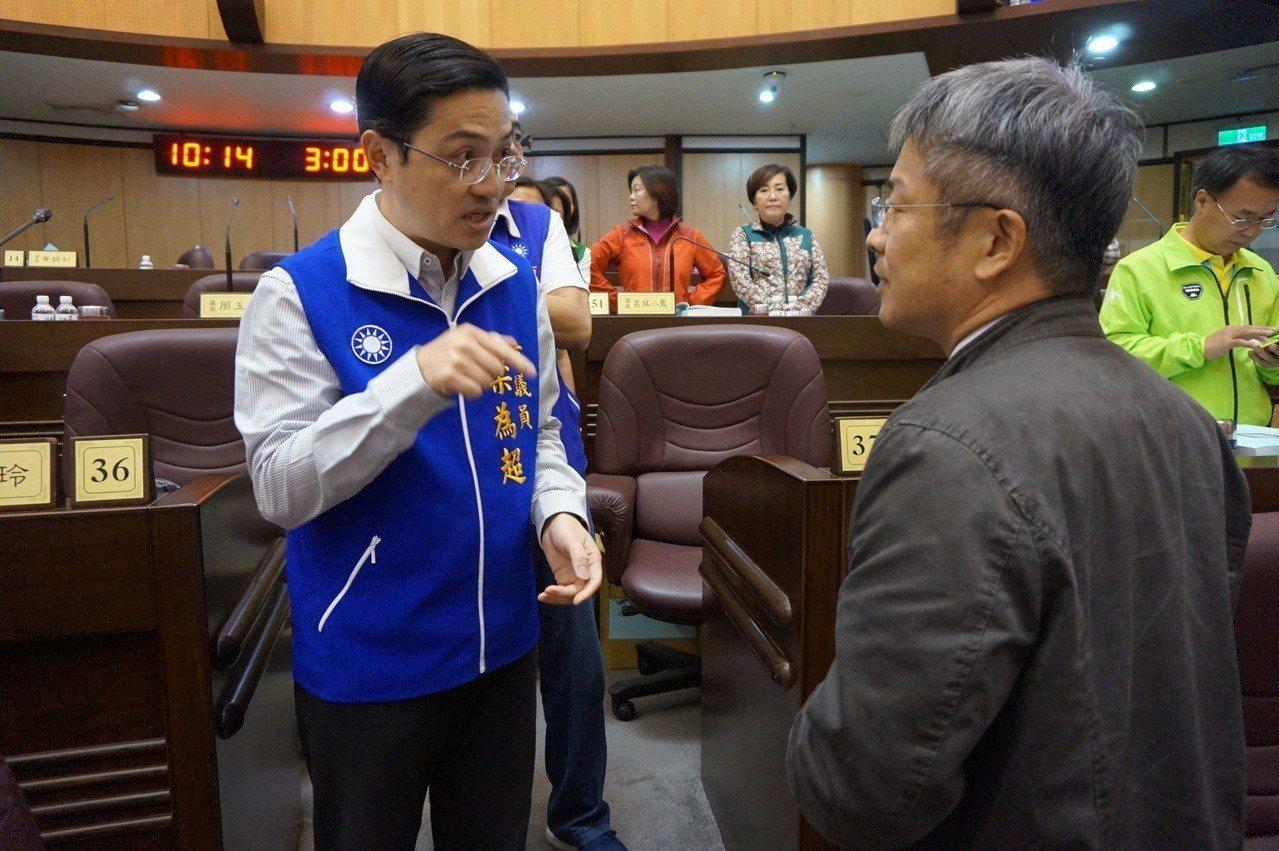 藍綠營議員為了審查客家事務局預算爭論不休。記者李京昇/攝影
