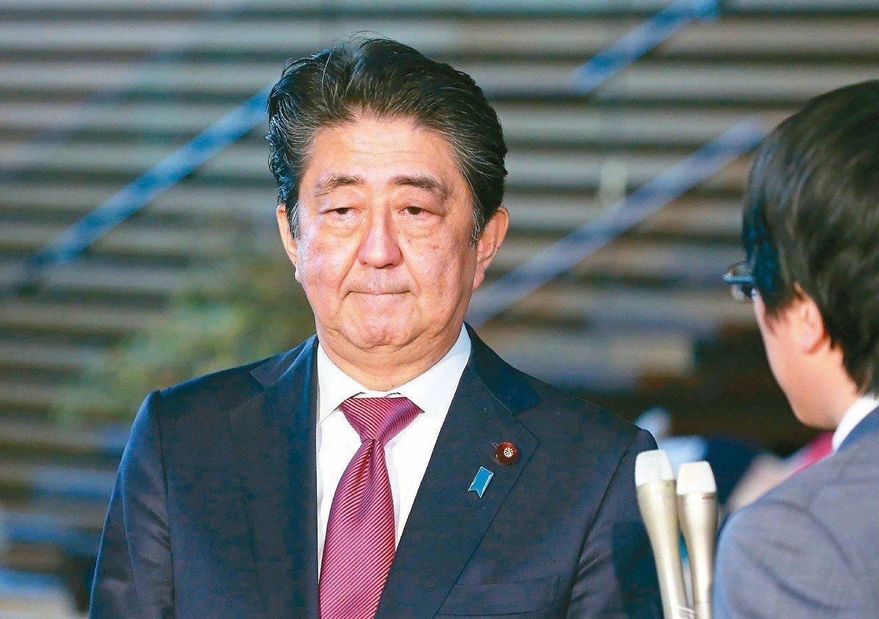 日本首相安倍晉三日。 法新社