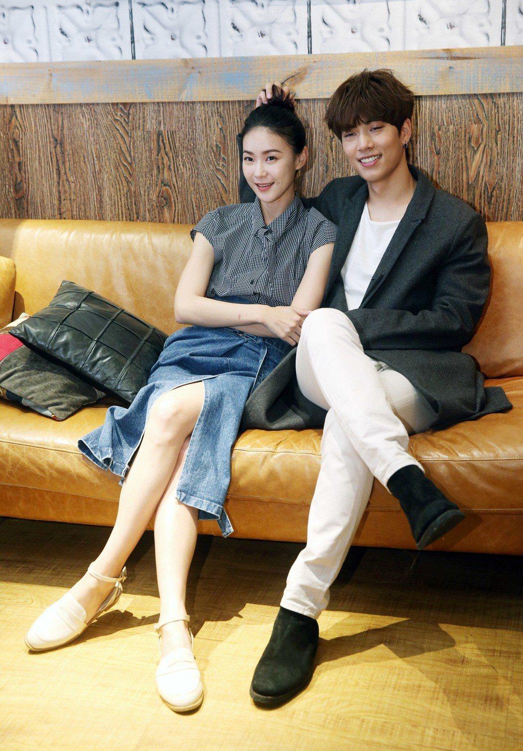艾蜜麗的五件事,鍾瑶(左)、林子閎(右)。記者邱德祥/攝影