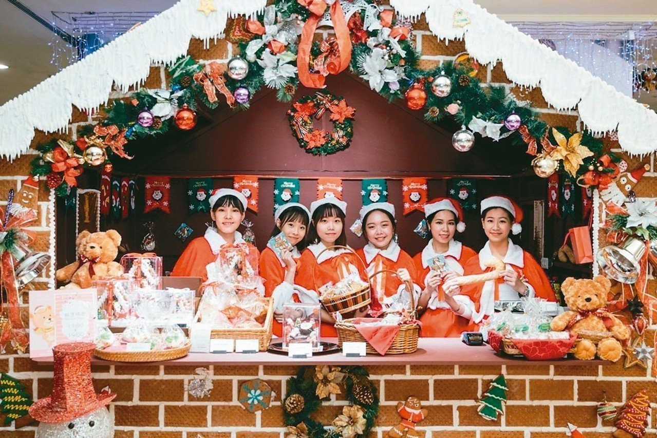 台北王朝酒店的人造手工薑餅屋。 王朝酒店/提供