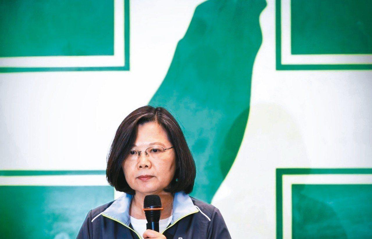 選舉大敗,民進黨內傳出蔡英文被逼宮。 圖/聯合報系資料照片