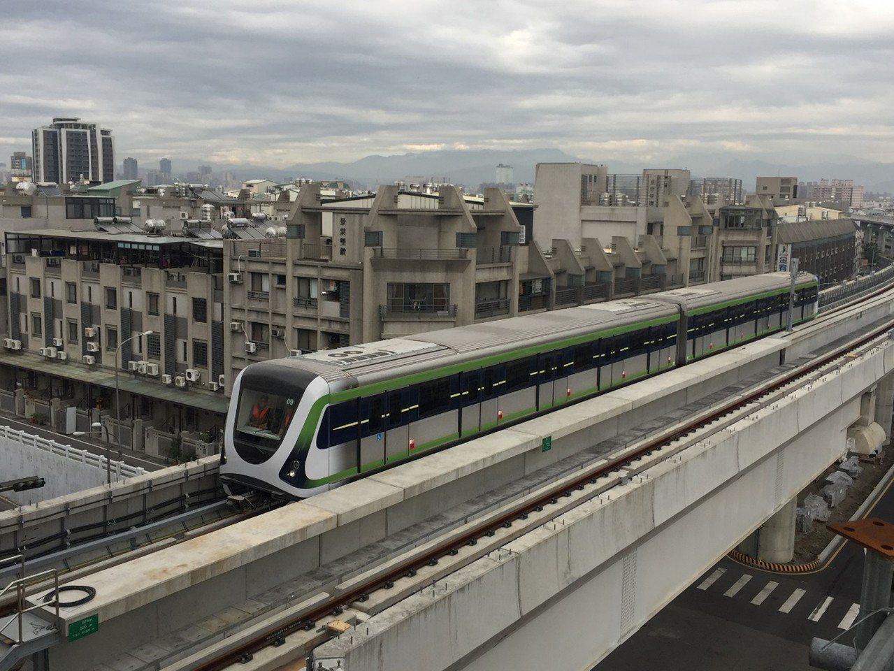 台中捷運綠線截至民國107年10月底,工程進度為80.26%,預計今年底開始試運...