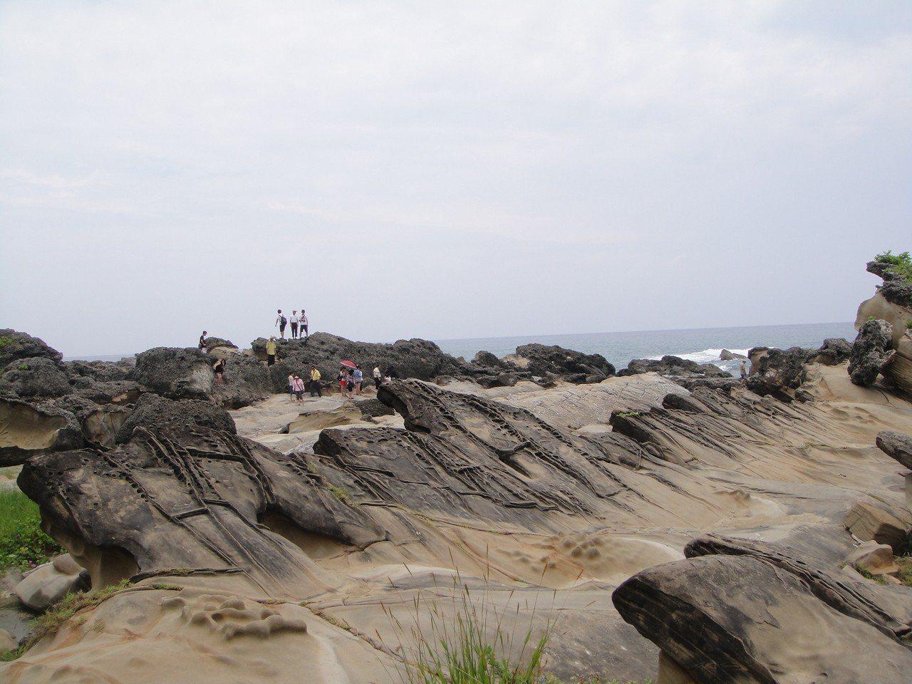 台東東海岸知名景點「小野柳」,交通部觀光局東部海岸國家風景區管理處擬將2年內它正...