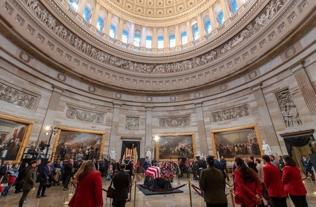 美國前總統老布希(George H.W. Bush)國葬儀式於美東時間5日上午1...