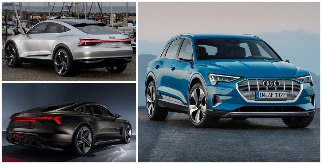 Audi純電作品已推出了三款,其中,純電休旅e-tron已正式發表且上市。 摘自...
