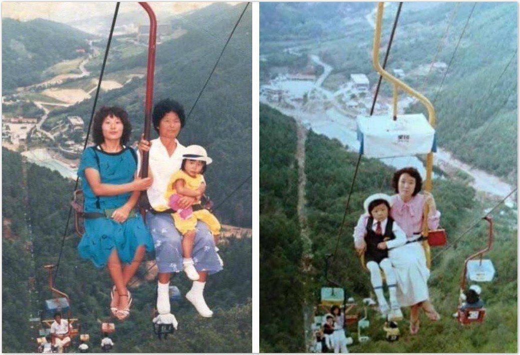 韓國復古纜車讓網友看了都嚇壞了。 圖片來源/ instiz