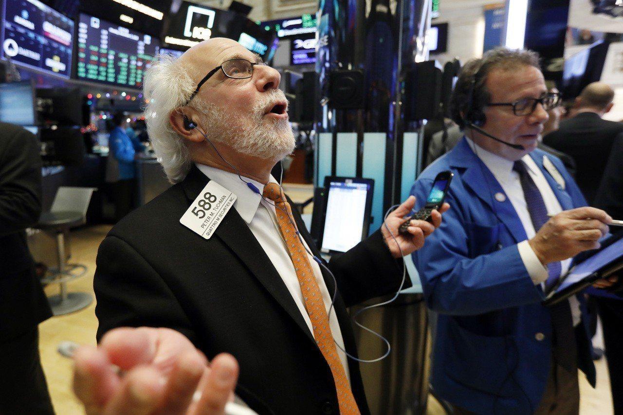 經濟成長前景不佳,貿易戰緩解的樂觀情緒消退,美股周二重挫。 美聯社