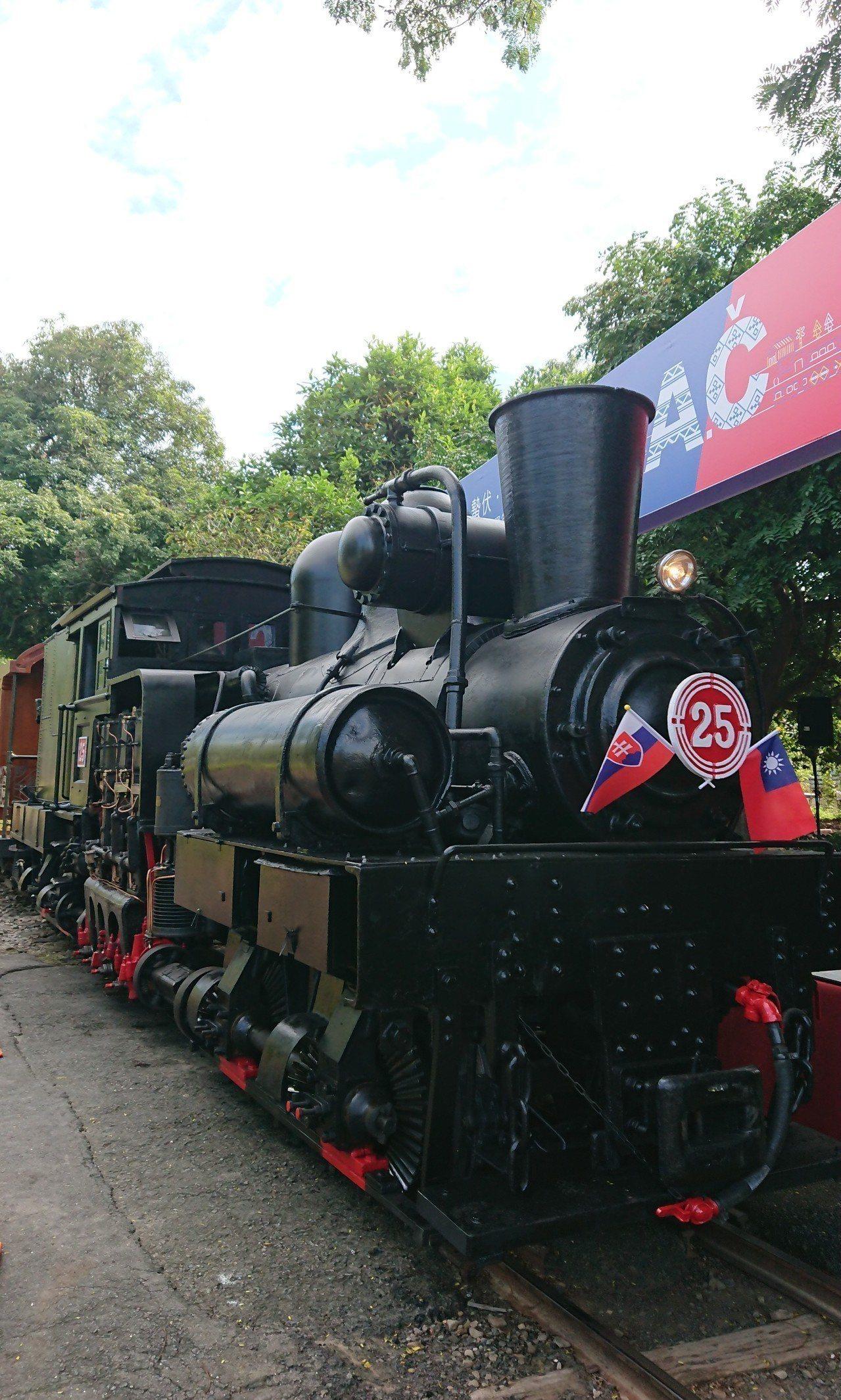 阿里山林鐵蒸汽火車頭。記者卜敏正/攝影