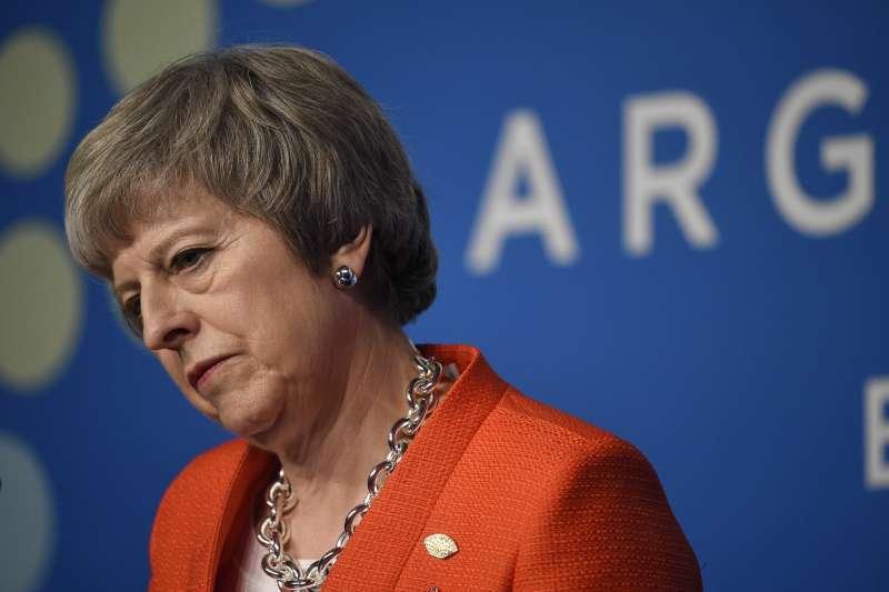 英國首相梅伊。美聯社