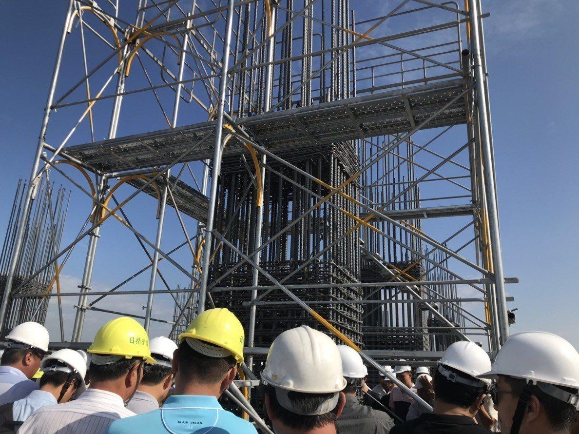 好瀚建設在九份子重劃區推案,首重耐震安全。記者綦守鈺/攝影