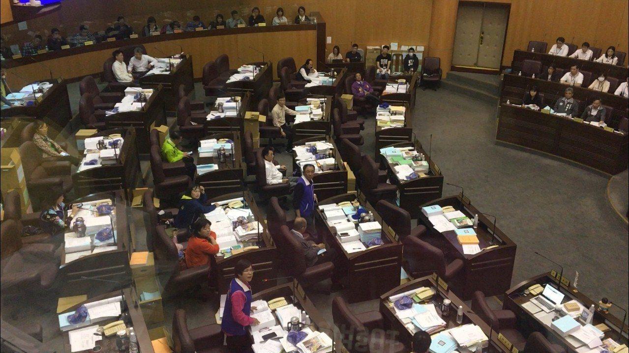 聽見王浩宇在議場外的二樓旁聽席朝議事堂大喊,多名藍營議員不滿,認為王不尊重議會。...