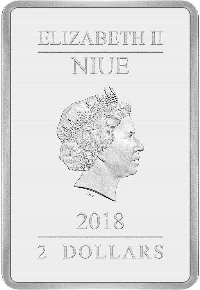 台銀發售聖誕快樂彩色精鑄銀幣,正面為英國女王伊莉莎白二世側面肖像 。圖/台灣銀行...