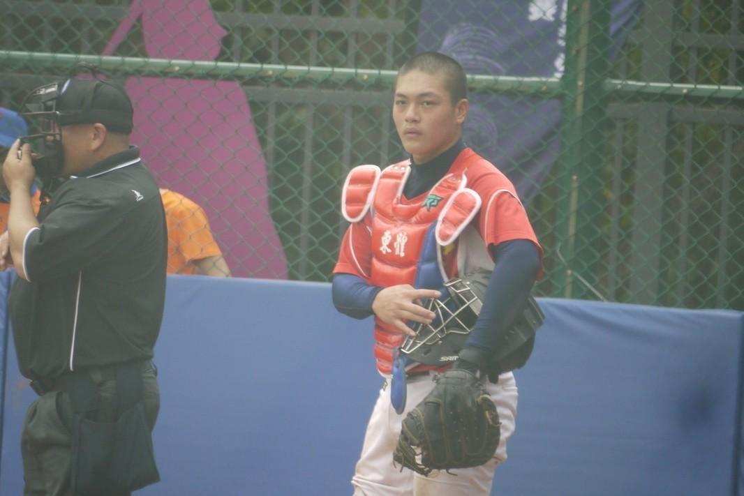 台東體中捕手張聖豪。記者吳敏欣/攝影