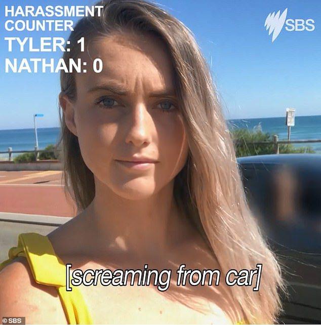 澳洲電視台街頭實測,找來年輕男女站在路邊,假裝自拍,結果女性在90秒遭到8次騷擾...