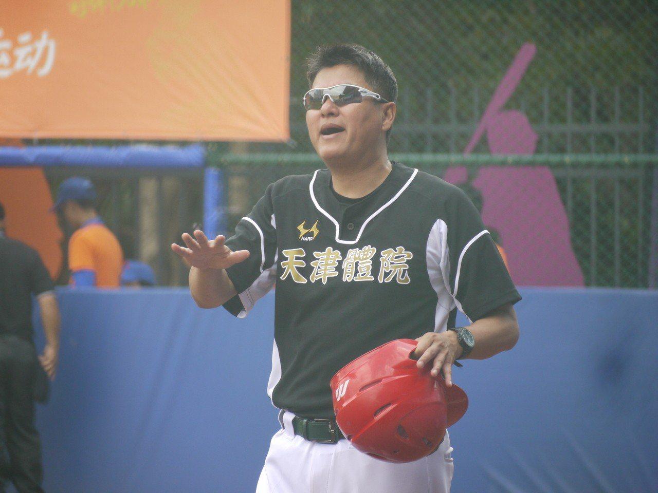 天津體院總教練呂建剛。記者吳敏欣/攝影