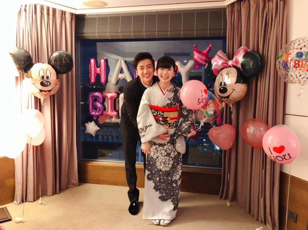 江宏傑和福原愛開心宣佈有第二胎。圖/摘自臉書