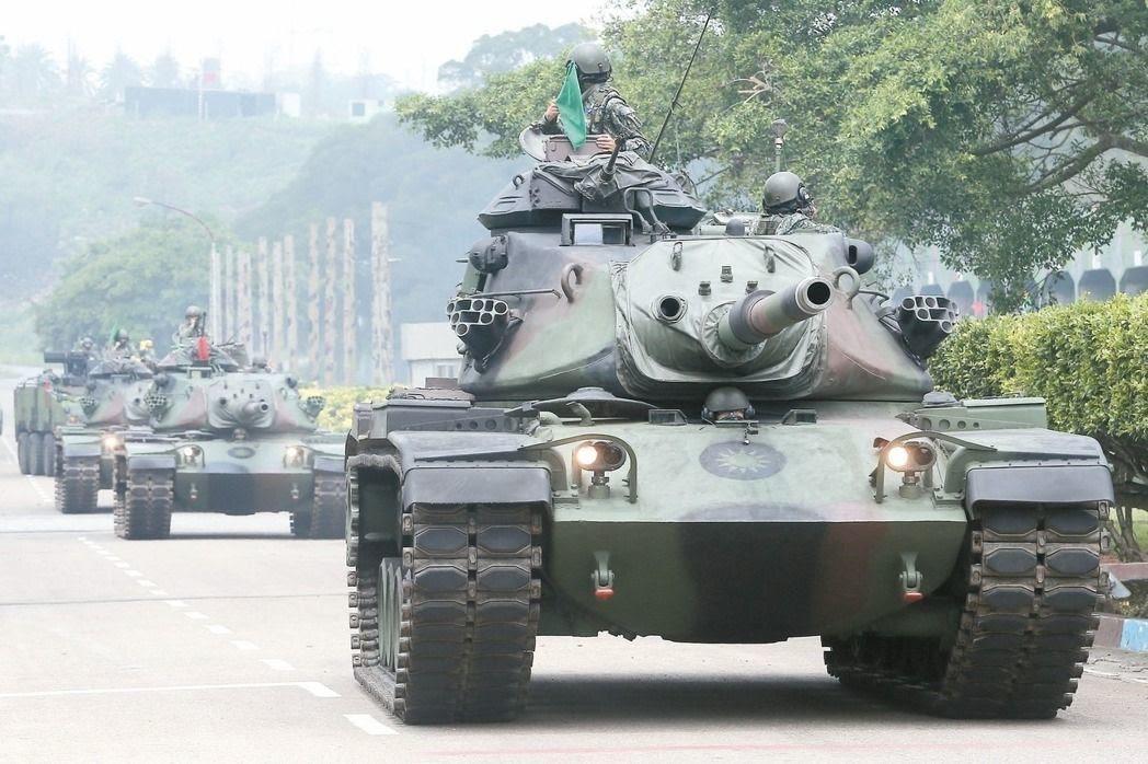 陸軍M60A3戰車。聯合報系資料照片