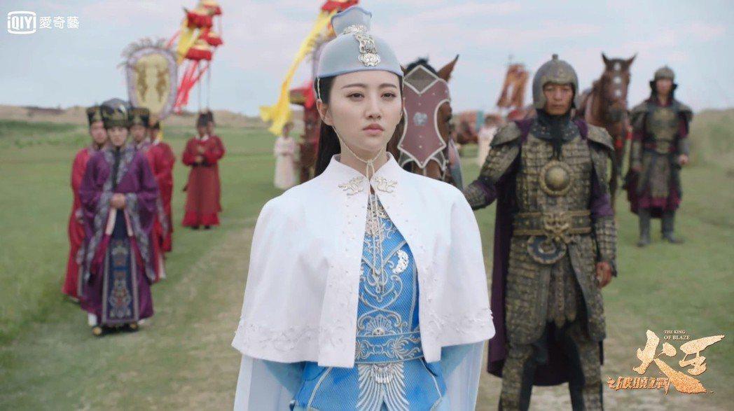 景甜演出「火王之破曉之戰」。圖/愛奇藝台灣站提供