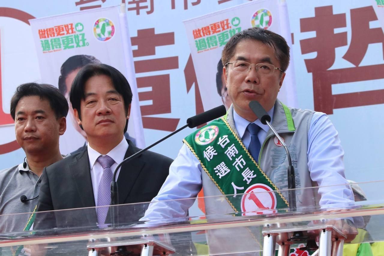 台南市長當選人黃偉哲(右)。圖/本報資料照片