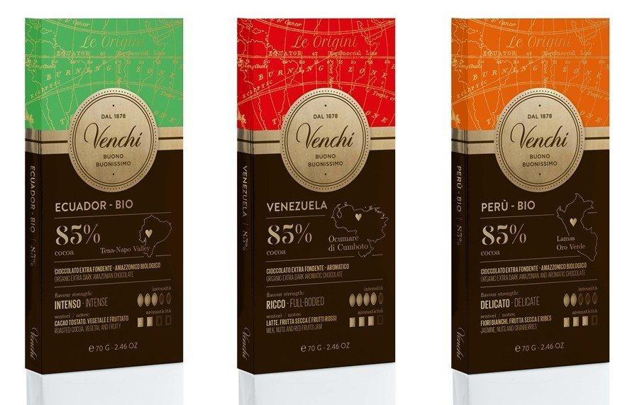 100%的純黑巧克力系列,售價360元。圖/Venchi提供