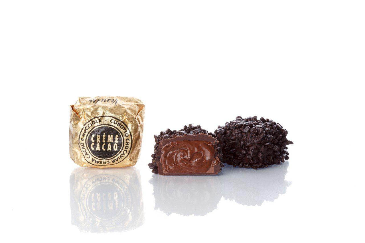 魚子醬造型系列巧克力,售價320元/100g。圖/Venchi提供