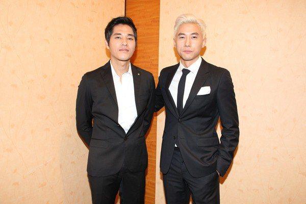 藍正龍(左)、陳泂江兩位影帝級的實力派男神,將有精采對戲切磋。圖/拙八郎提供