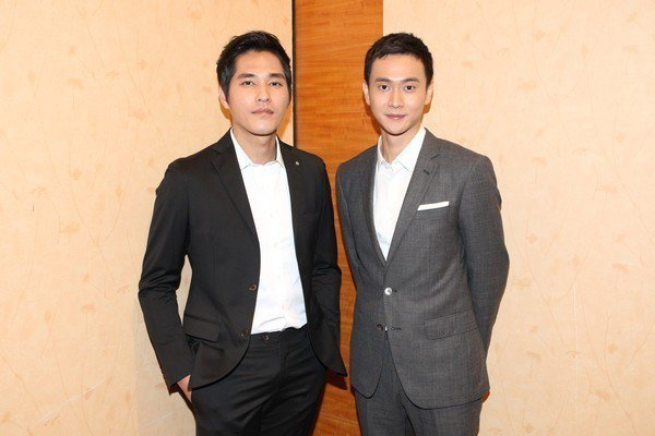 藍正龍(左)與劉冠廷將到新加坡拍戲。圖/拙八郎提供