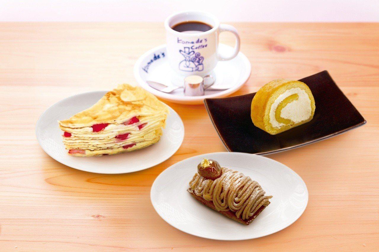 店內供應4款台灣限定的季節甜點,單價100~120元。圖/客美多提供