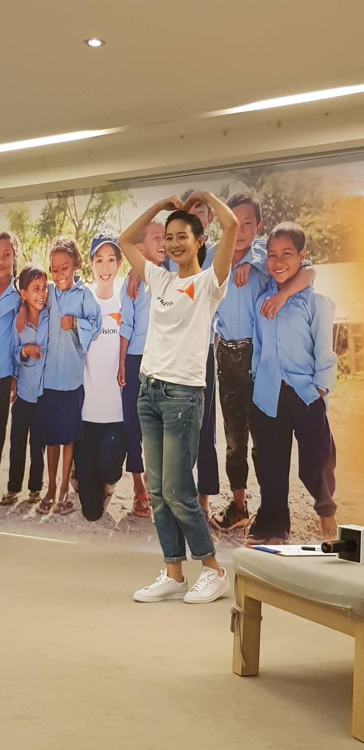 張鈞甯出席世界展望會活動。記者杜沛學/攝影